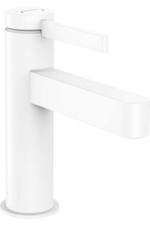 Смеситель для умывальника 100, белый матовый, Hansgrohe Finoris 76010700, Белый матовый, стандартный
