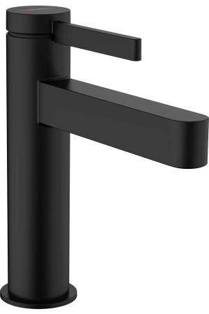 Смеситель для умывальника 110, черный матовый, Hansgrohe Finoris 76020670, Черный матовый, стандартный
