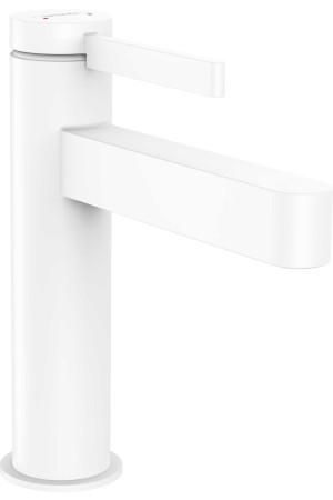 Смеситель для умывальника 110, белый матовый, Hansgrohe Finoris 76023700, Белый матовый, стандартный