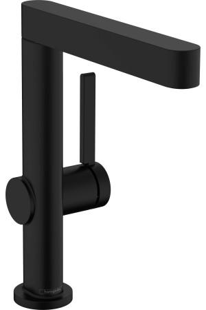 Смеситель для умывальника поворотный 230, черный матовый, Hansgrohe Finoris 76060670, Черный матовый, стандартный