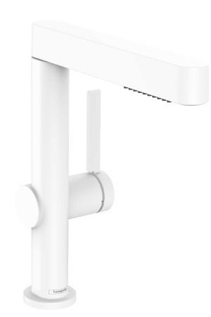 Смеситель для умывальника 230, выдвижной, белый матовый, Hansgrohe Finoris 76063700, Белый матовый, стандартный