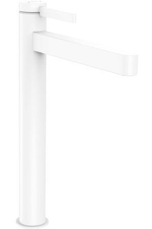 Смеситель высокий для умывальника 260, белый матовый, Hansgrohe Finoris 76070700, Белый матовый, стандартный