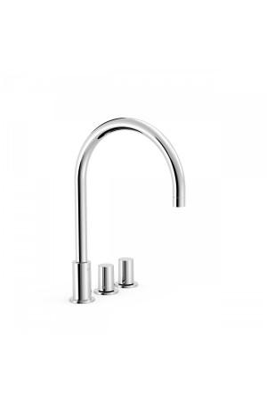Двуручный смеситель на борт ванны Tres Study exclusive 06110501, Хром, в борт ванны