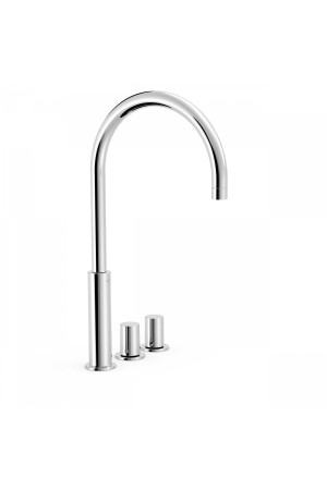 Двуручный смеситель на борт ванны Tres Study exclusive 06110502, Хром, в борт ванны