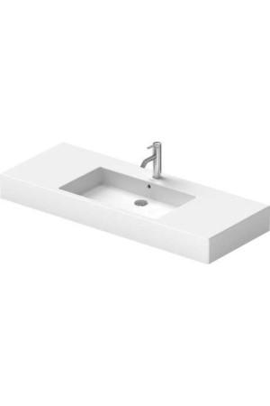 Duravit Vero Умывальник для мебели 1250 мм 032912, Белый, Керамика - на мебели, Керамика - подвесной, Фарфор