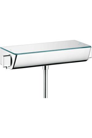 Термостат для душа, белый/хром, Hansgrohe Ecostat 13111000, Хром, настенный