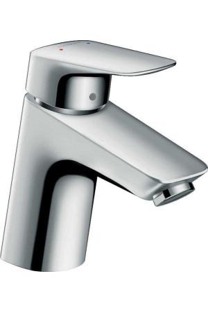 Смеситель для раковины 70, клапан Push-Open, Hansgrohe Logis 71077000, Хром, стандартный
