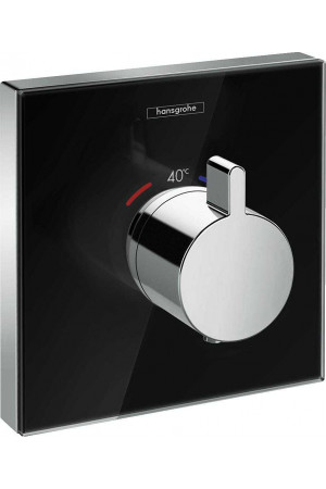 Термостат скрытого монтажа, черный/хром, Hansgrohe ShowerSelect 15734600, Хром/черный, скрытый