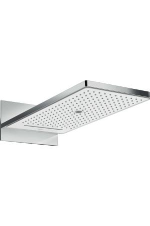 Верхний душ 580 x 260 мм, 3 режима, белый/хром, Hansgrohe Rainmaker 24011400, Хром/белый