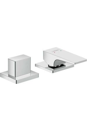 Смеситель на борт ванны, 2 потребителя, хром, Hansgrohe Metropol 32548000, Хром, в борт ванны