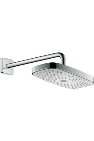 Потолочный душ 300 x 160 мм, 2 режима, белый/хром, Hansgrohe Raindance 27385400, Хром/белый