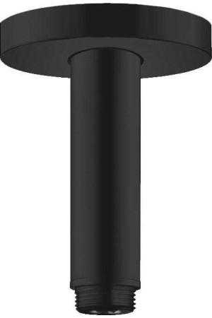 Потолочное подсоединение 100 мм, матовое черное, Hansgrohe 27393670, Черный матовый
