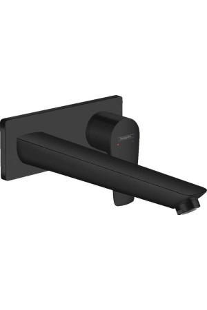 Смеситель для раковины 225 мм, встраиваемый, матовый черный, Hansgrohe Talis E 71734670, Черный матовый, скрытый