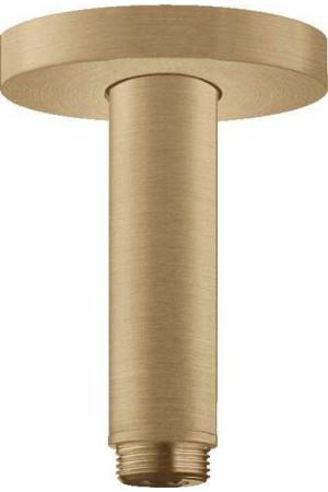Потолочное подсоединение, 100 мм, шлиф. бронза, Hansgrohe 27393140, Бронза матовая