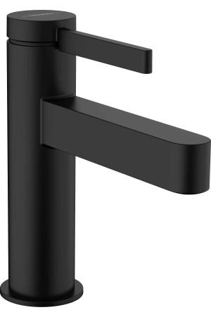 Смеситель для умывальника 100, черный матовый, Hansgrohe Finoris 76010670, Черный матовый, стандартный