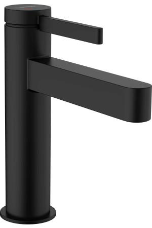 Смеситель для умывальника CoolStart 110, черный матовый, Hansgrohe Finoris 76024670, Черный матовый, стандартный