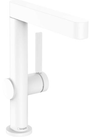 Смеситель для умывальника поворотный 230, белый матовый, Hansgrohe Finoris 76060700, Белый матовый, стандартный