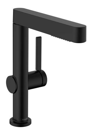 Смеситель для умывальника 230, выдвижной, черный матовый, Hansgrohe Finoris 76063670, Черный матовый, стандартный