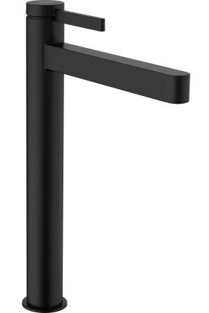 Смеситель высокий для умывальника 260, черный матовый, Hansgrohe Finoris 76070670, Черный матовый, стандартный