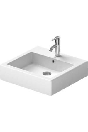 Duravit Vero Умывальник для мебели 500 мм 045450, Белый, Керамика - на мебели, Керамика - подвесной, Фарфор