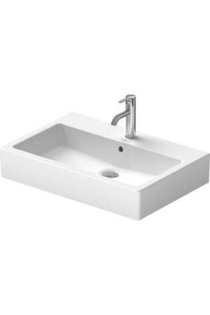 Duravit Vero Умывальник шлифованный 700 мм 045470, Белый, Керамика - на мебели, Керамика - накладной, Керамика - подвесной, Фарфор