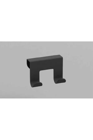 Двойной крючок на тумбу черный, Sonia 177004, Черный матовый, настенный, Алюминий
