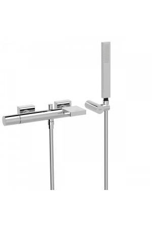 Однорычажный смеситель для ванны и душа Tres Project 21117001, Хром, настенный