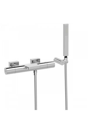 Термостатический смеситель для ванны и душа Tres Project 21117409, Хром, настенный