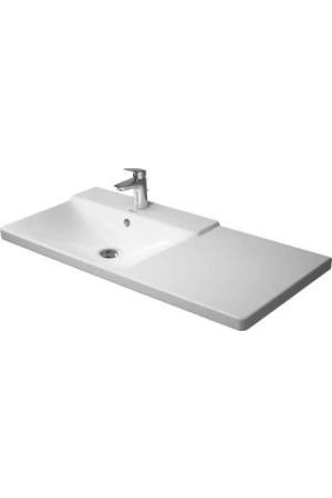 Duravit P3 Comforts умывальник для мебели ассиметричный 1050 мм 233310, Белый, Керамика - на мебели, Керамика - подвесной, Керамика