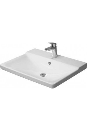 Duravit P3 Comforts умывальник для мебели 650 мм 233265, Белый, Керамика - на мебели, Керамика - подвесной, Керамика