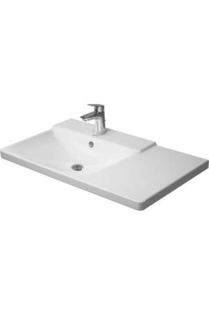 Duravit P3 Comforts умывальник для мебели ассиметричный 850 мм 233385, Белый, Керамика - на мебели, Керамика - подвесной, Керамика