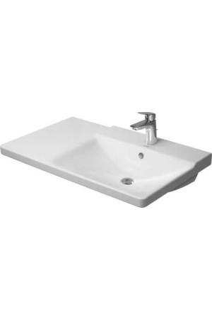 Duravit P3 Comforts умывальник для мебели ассиметричный 850 мм 233485, Белый, Керамика - на мебели, Керамика - подвесной, Керамика