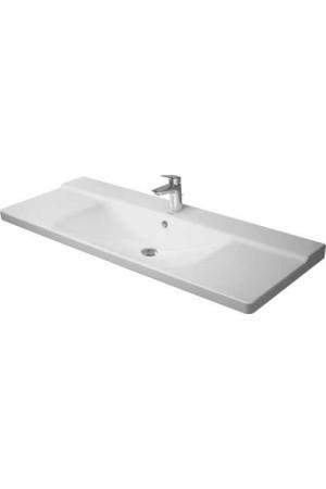 Duravit P3 Comforts умывальник для мебели 1250 мм 233212, Белый, Керамика - на мебели, Керамика - подвесной, Керамика