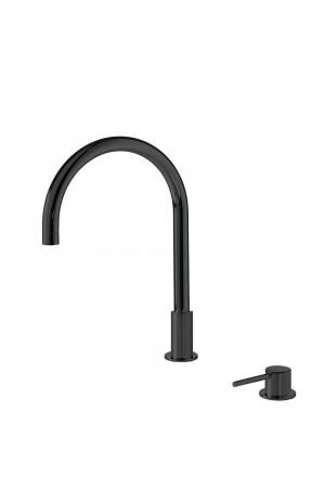 Консольный черный смеситель на умывальник Tres Study 26110501NM, Черный матовый, стандартный