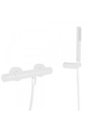 Однорычажный смеситель для душа Tres Study exclusive 26116701BM, Белый матовый, настенный