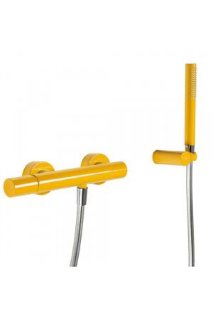 Однорычажный смеситель для душа Tres Study exclusive 26116701TAM, Янтарь, настенный