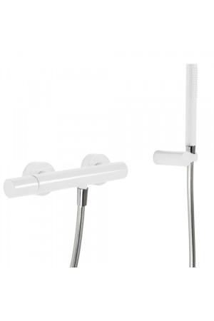 Однорычажный смеситель для душа Tres Study exclusive 26116701TBL, Белый, настенный