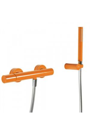 Однорычажный смеситель для душа Tres Study exclusive 26116701TNA, Оранжевый, настенный