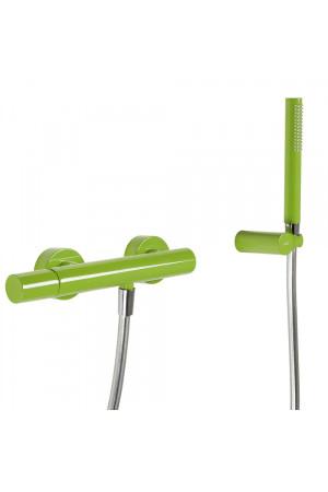 Однорычажный смеситель для душа Tres Study exclusive 26116701TVE, Зеленый, настенный