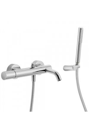 Однорычажный смеситель для ванны и душа Tres Study exclusive 26117001, Хром, настенный