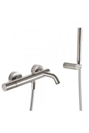 Однорычажный смеситель для ванны и душа Tres Study exclusive 26117001AC, Сталь, настенный