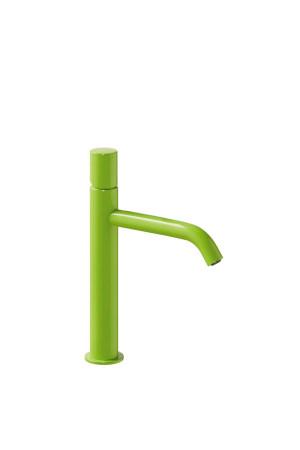 Однорычажный смеситель для умывальника Tres Study exclusive 26130701TVE, Зеленый, стандартный