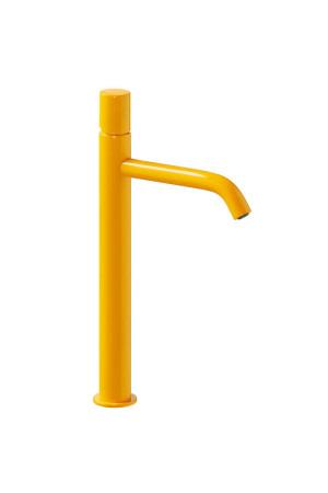 Высокий однорычажный смеситель для умывальника Tres Study exclusive 26130801TAM, Янтарь, стандартный