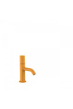 Однорычажный смеситель для умывальника Tres Study exclusive 26190301TAM, Янтарь, стандартный