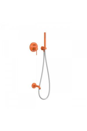 Душевая система с встроенным смесителем Tres Study exclusive 26218003TN, Оранжевый, скрытый