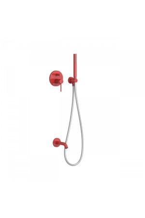 Душевая система с встроенным смесителем Tres Study exclusive 26218003TRO, Красный, скрытый