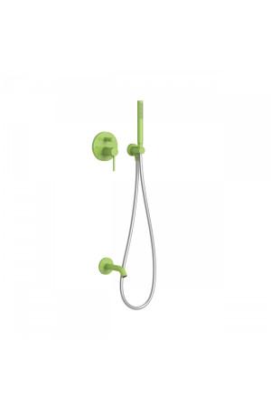 Душевая система с встроенным смесителем Tres Study exclusive 26218003TVE, Зеленый, скрытый