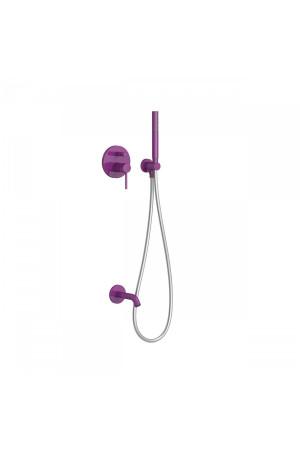 Душевая система с встроенным смесителем Tres Study exclusive 26218003TVI, Фиолетовый, скрытый