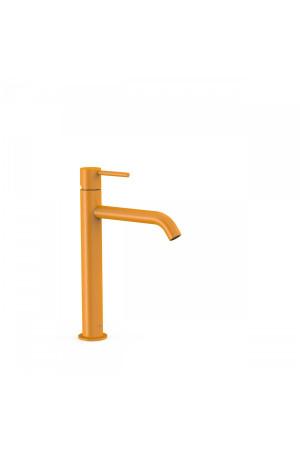 Однорычажный смеситель для умывальника Tres Study exclusive 26230701TAM, Янтарь, стандартный