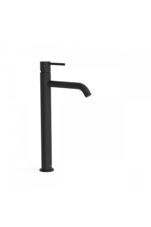 Высокий черный смеситель для умывальника Tres Study exclusive 26230801NM, Черный матовый, стандартный